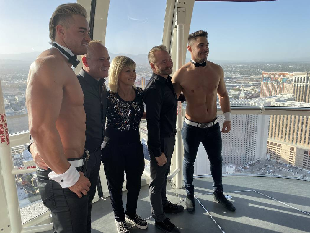 Michael Caprio and Randy Slovacek are shown with Chippendales cast members Jon Howes and Chaz V ...