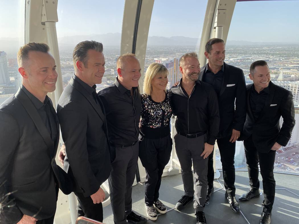 Michael Caprio and Randy Slovacek are shown with members of Human Nature and Olivia Newton-John ...