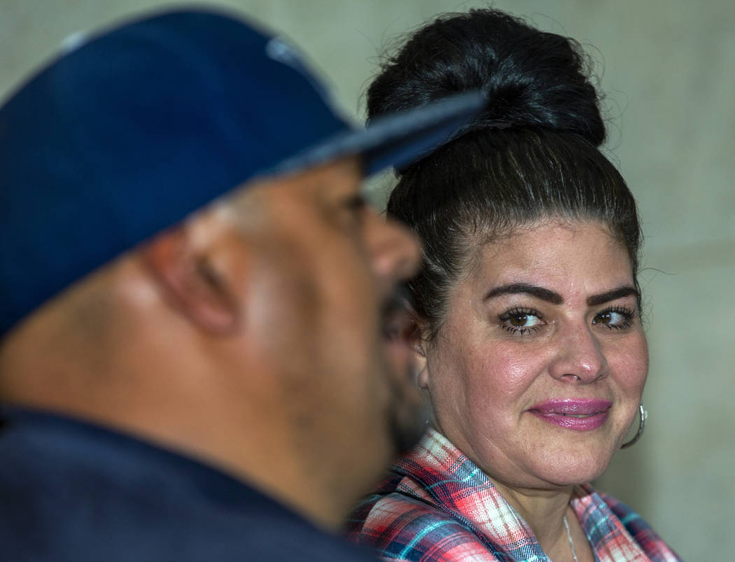 Hanna, right, and Jerry Olivas speak about her decision to move to California where the law wil ...