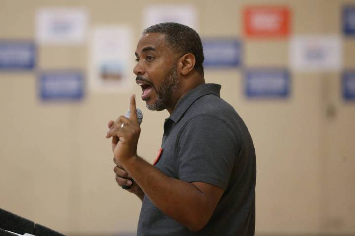 U.S. Rep. Steven Horsford, D-Las Vegas, speaks during an event by the Nevada chapter of Moms De ...