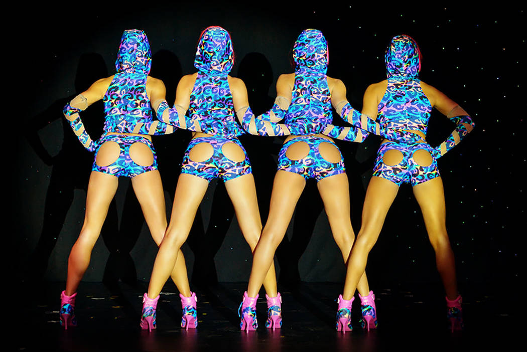 """The staff of """"Crazy Girls"""" in the Sin City Theater at Planet Hollywood. (Las Vegas Review-Journal)"""