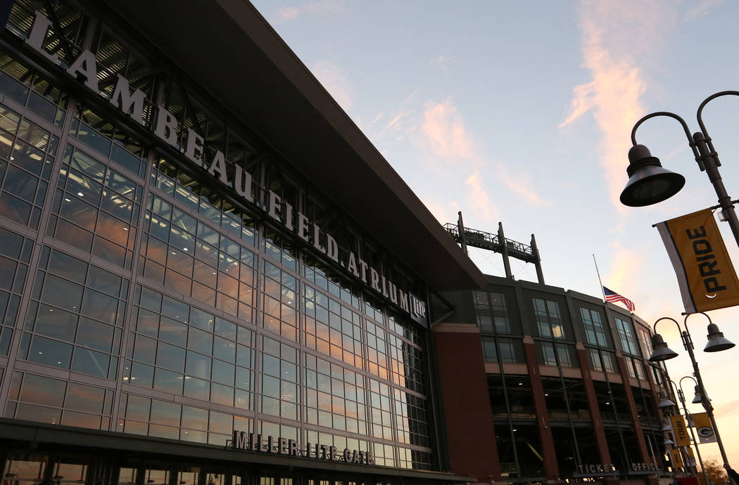 The Lambeau Field Atrium and box office at Lambeau Field in Green Bay, Wis., Friday, Oct. 18, 2 ...