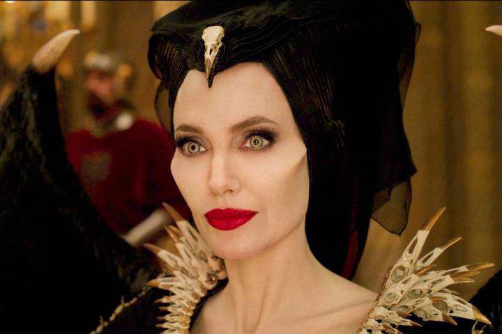 "This image released by Disney shows Angelina Jolie as Maleficent in a scene from ""Malefice ..."