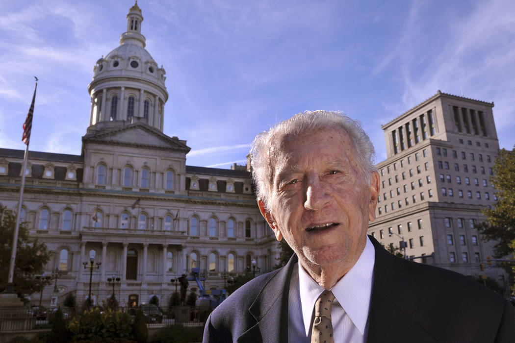 In this Oct. 11, 2016, photo former Baltimore Mayor Thomas D'Alesandro III, 87, poses for a pho ...
