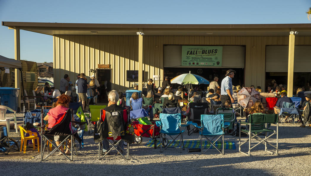 Attendees enjoy some perfect weather during the 2nd Annual Fall into the Blues Festival & F ...