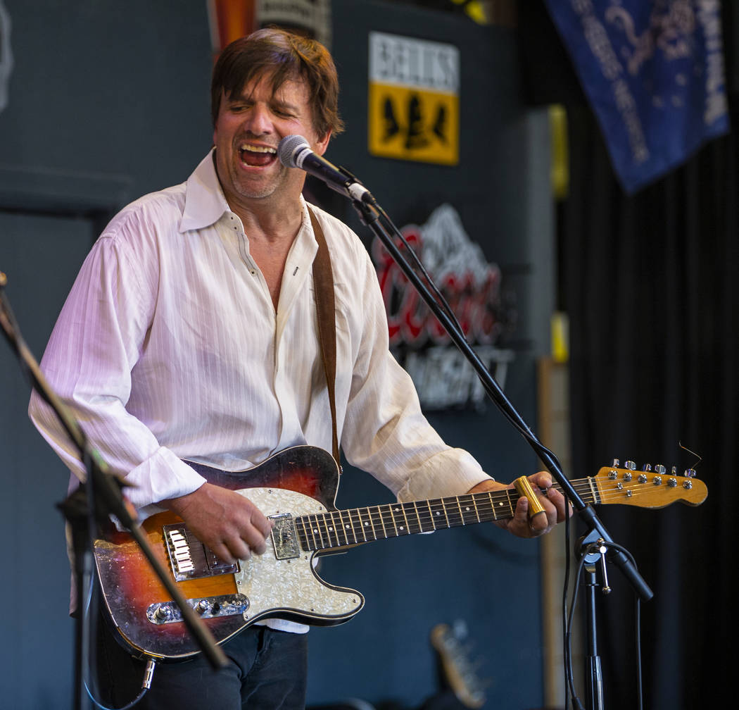 The Moanin' Blacksnakes lead singer Scott Rhiner performs with his band during the 2nd Annual F ...
