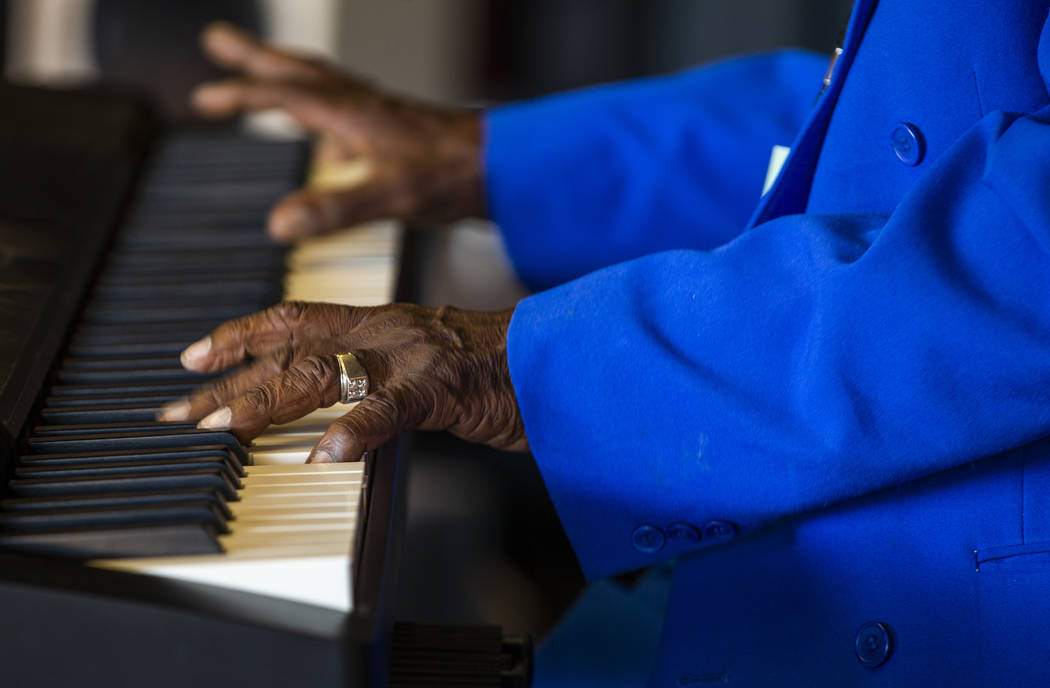 Legendary blues piano player and singer Leon Blue performs during the 2nd Annual Fall into the ...