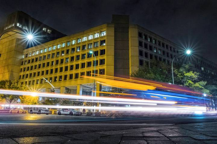 In a Nov. 1, 2017, file photo, traffic along Pennsylvania Avenue in Washington streaks past the ...