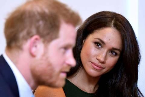 The Duke and Duchess of Sussex attend the annual WellChild Awards in London, Tuesday Oct. 15, 2 ...