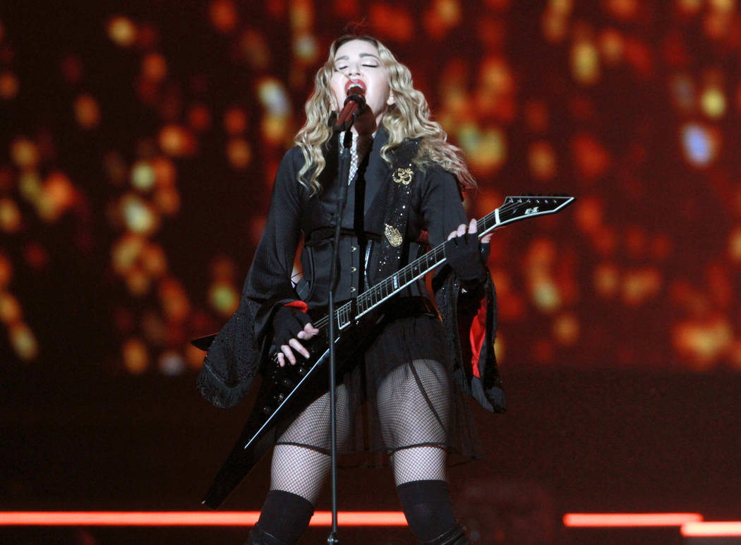 Madonna performs during the Rebel Heart Tour 2016 at Philips Arena on Wednesday, Jan. 20, 2016, ...