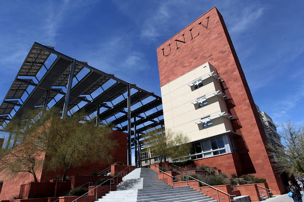 A group of UNLV students expressed frustration at the university's handling of a threatened sho ...