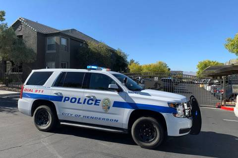 Henderson Police are at the scene of a shooting at an apartment complex at 10701 S. Eastern Ave ...