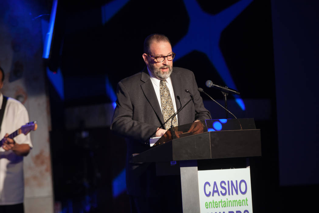 Venetian/Palazzo entertainment exec Neil Miller accepts his Casino Legend award at the seventh ...