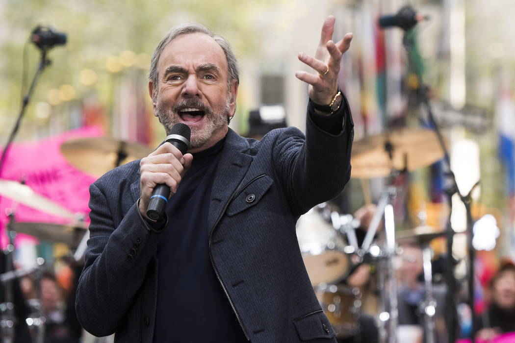 """Neil Diamond performs on NBC's """"Today"""" show in New York in 2014. (Photo by Charles Sykes/Invisi ..."""