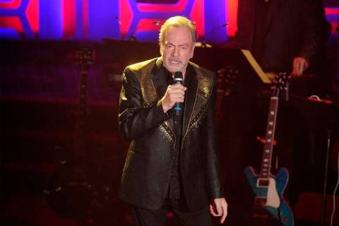 Neil Diamond performs during the 49th annual Songwriters Hall of Fame Induction and Awards gala ...