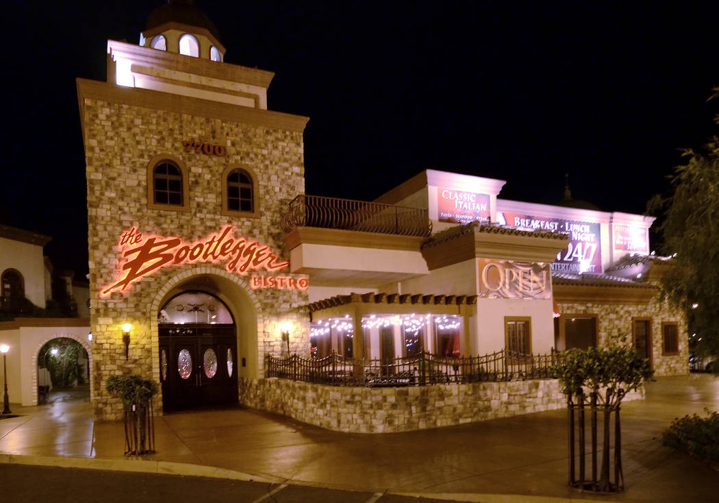 The Bootlegger Bistro has been family owned since 1972. (Las Vegas Review-Journal/File)