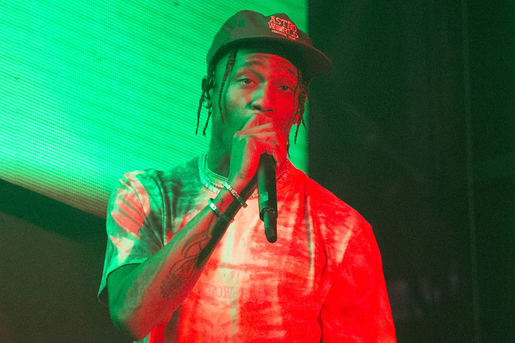 Travis Scott performs performs on Day 2 of the 2019 Firefly Music Festival at The Woodlands on ...