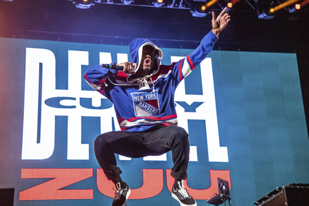 Denzel Curry performs at the Voodoo Music Experience in City Park on Saturday, Oct. 26, 2019, i ...