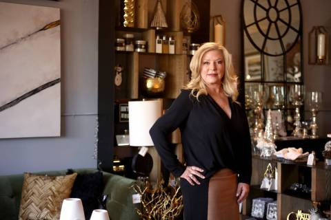 Debra Newell at her store Ambrosia Home in Las Vegas, Tuesday, Nov. 20, 2018. She is a successf ...
