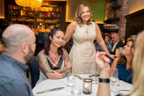 Executive chef of Searsucker Jessica Perlstein, left, Vegans, Baby founder Diana Edelman, cente ...