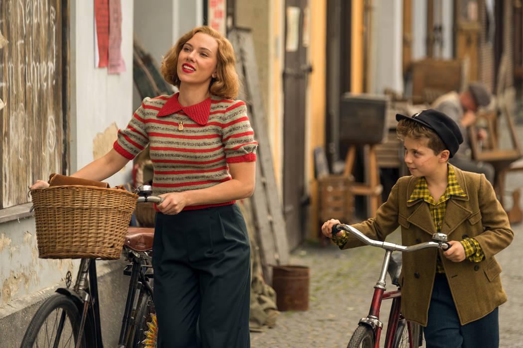 "Scarlett Johansson and Roman Griffin Davis in the film ""Jojo Rabbit."" (Larry Horrick/Twentieth ..."