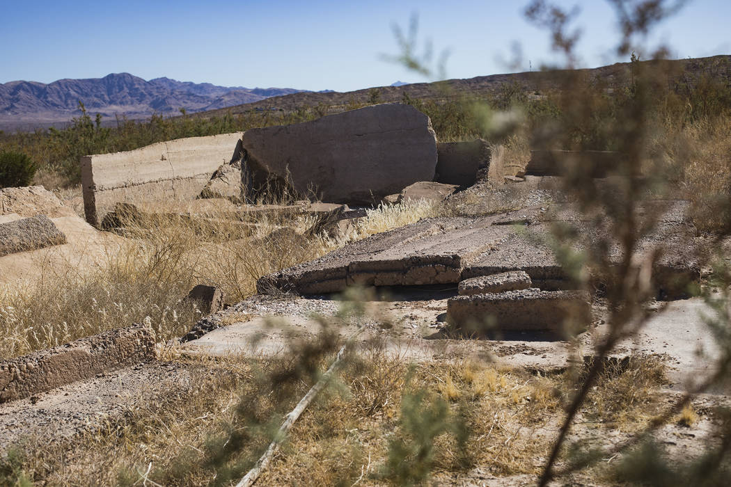 Remnants of the Gentry Store and post office in St. Thomas, in the Lake Mead National Recreatio ...