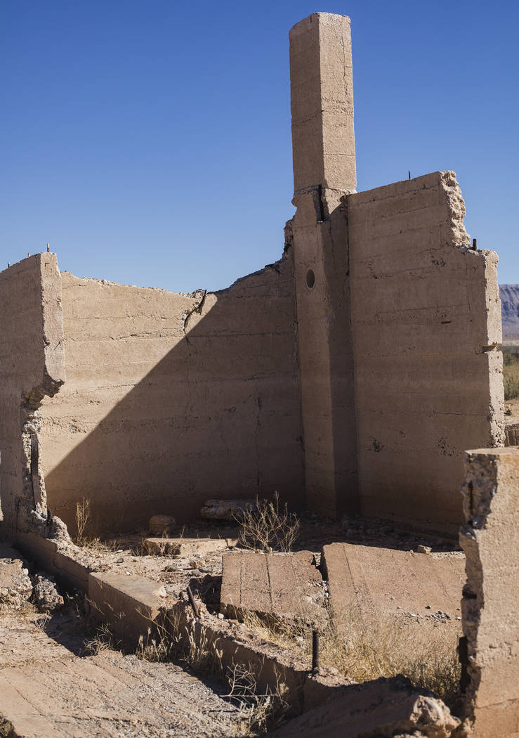 Remnants of the Hannig Store in St. Thomas, in the Lake Mead National Recreation Area, Tuesday, ...