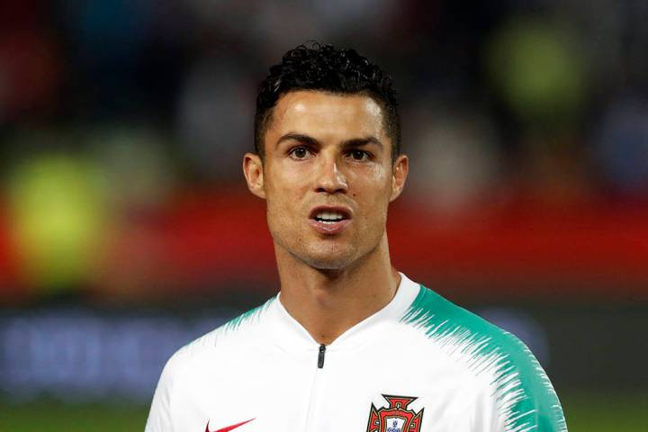 FILE - In this Sept. 7, 2019, file photo, is Portugal's Cristiano Ronaldo prior to playing thei ...