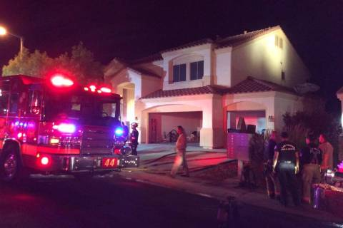 One resident was displaced and damage was estimated at $100,000 in a two-story house fire about ...