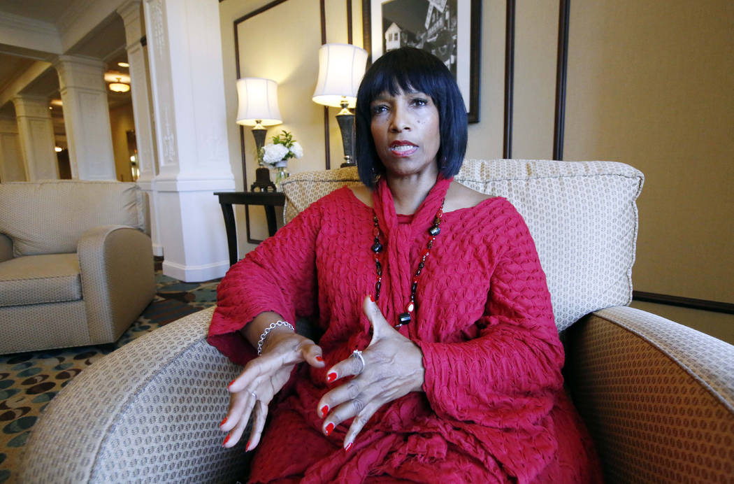 FILE - In this Thursday, Aug. 27, 2015, file photo, Deborah Watts, of Minneapolis, sits in a Ja ...