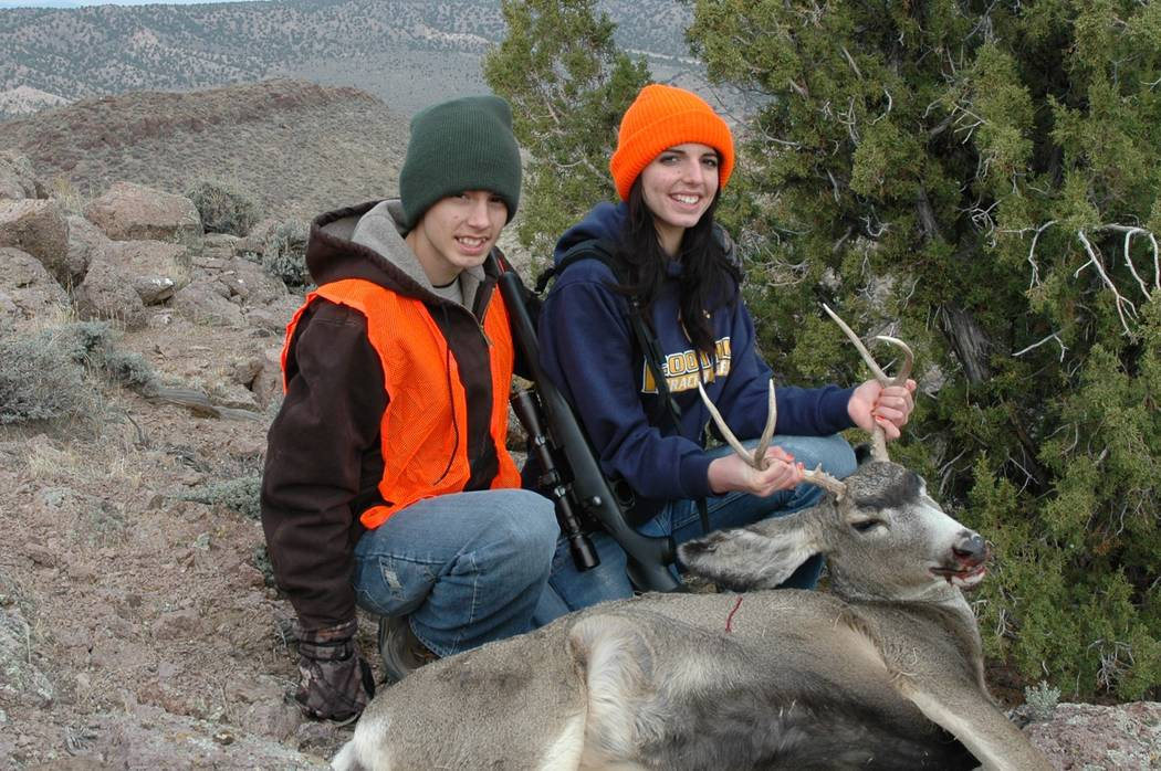 Dallin and Calli Nielsen donned hunter orange for the Nevada mule deer hunt. One of the keys to ...