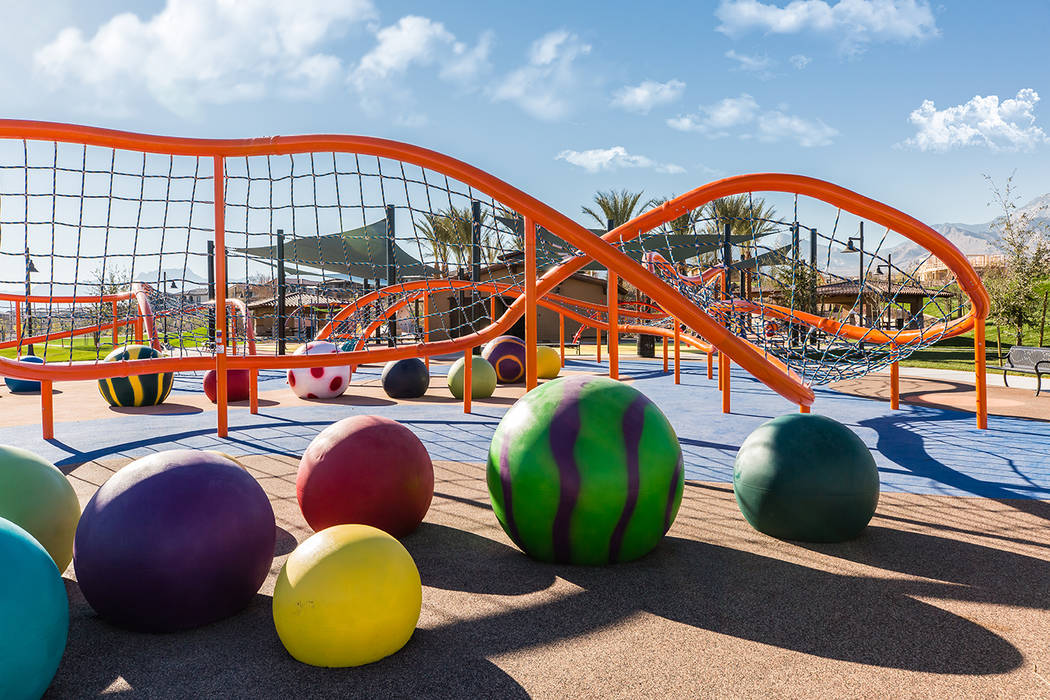 Fox Hill Park in The Paseos village was voted Best Park in the annual Best of Summerlin competi ...