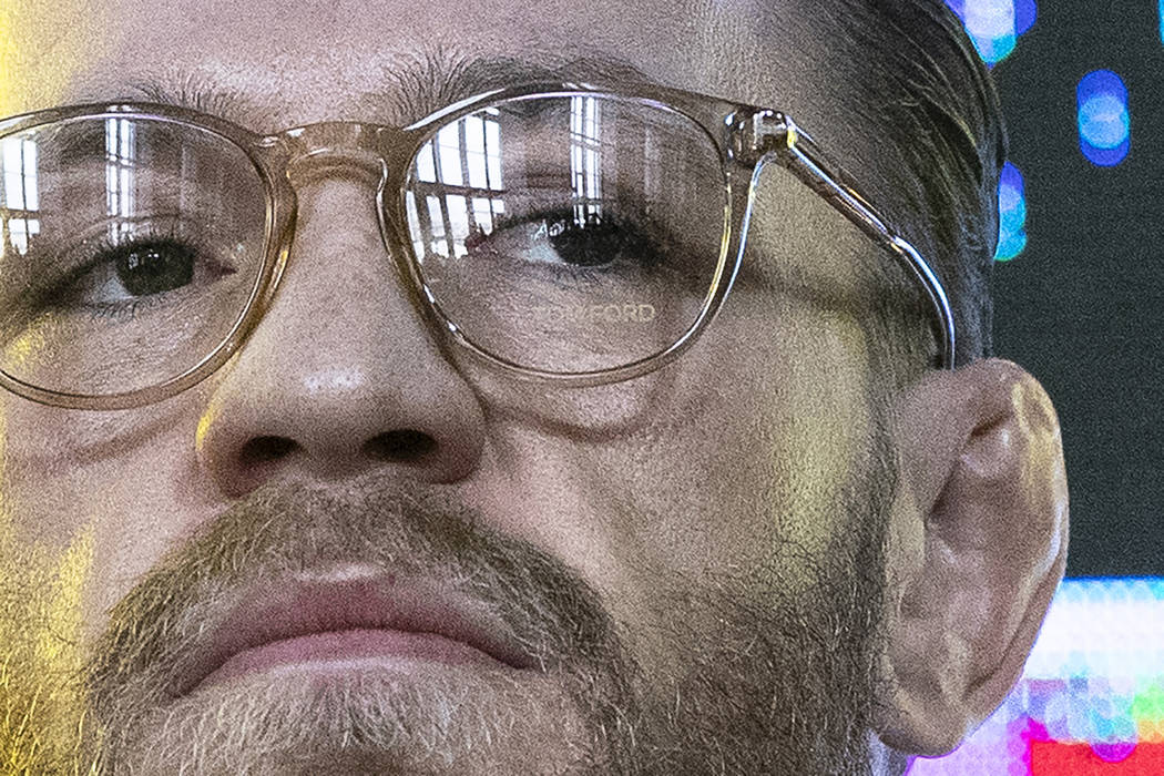 UFC (Ultimate Fighting Championship ) fighter Conor McGregor attends a news conference in Mosco ...