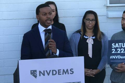 Nevada Democratic Party Chairman William McCurdy II discusses early voting sites for the 2020 s ...