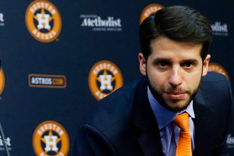 FILE - In this Jan. 17, 2018, file photo, Houston Astros Senior Director of Baseball Operations ...