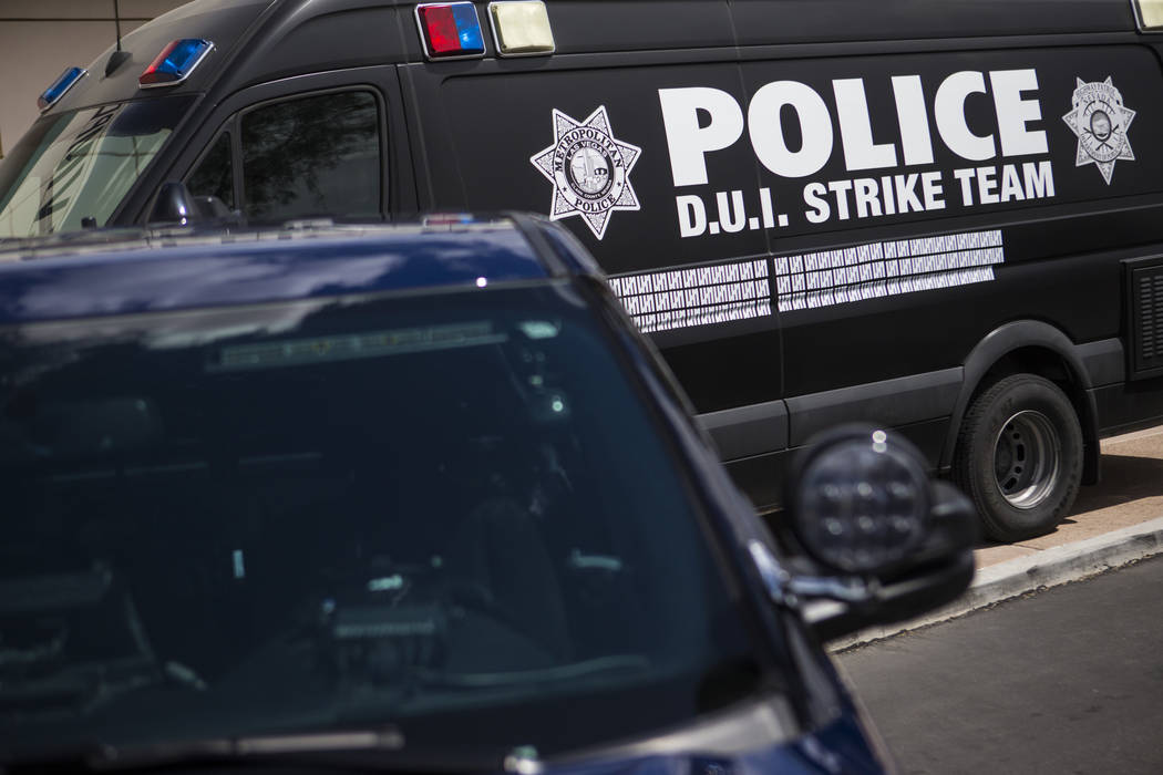 A view of a vehicle used by the DUI Strike Team, a joint operation between the Metropolitan Pol ...