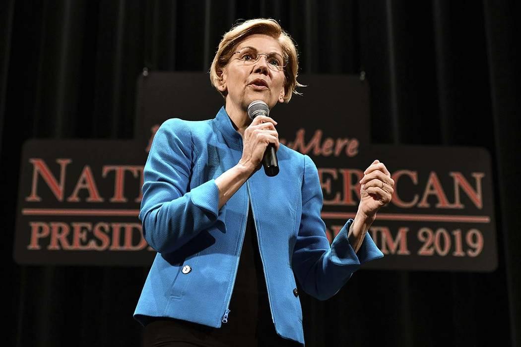Elizabeth Warren. (Tim Hynds/Sioux City Journal via AP)