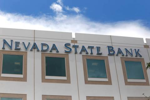 A Nevada State Bank sign outside of the bank which is located at 750 E Warm Springs Rd on Thurs ...