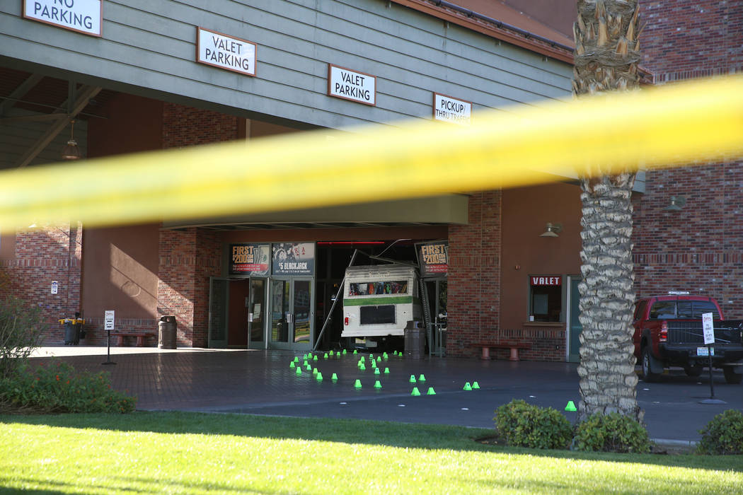 A 50-year-old woman who was kicked out of the Cannery crashed her Winnebago into the entrance o ...