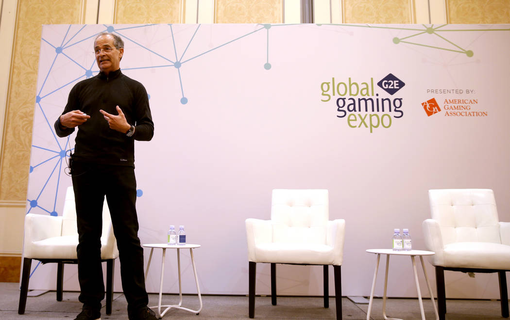 """Robert Rippee, director hospitality and esports labs at UNLV, gives a talk """"Should Casinos ..."""