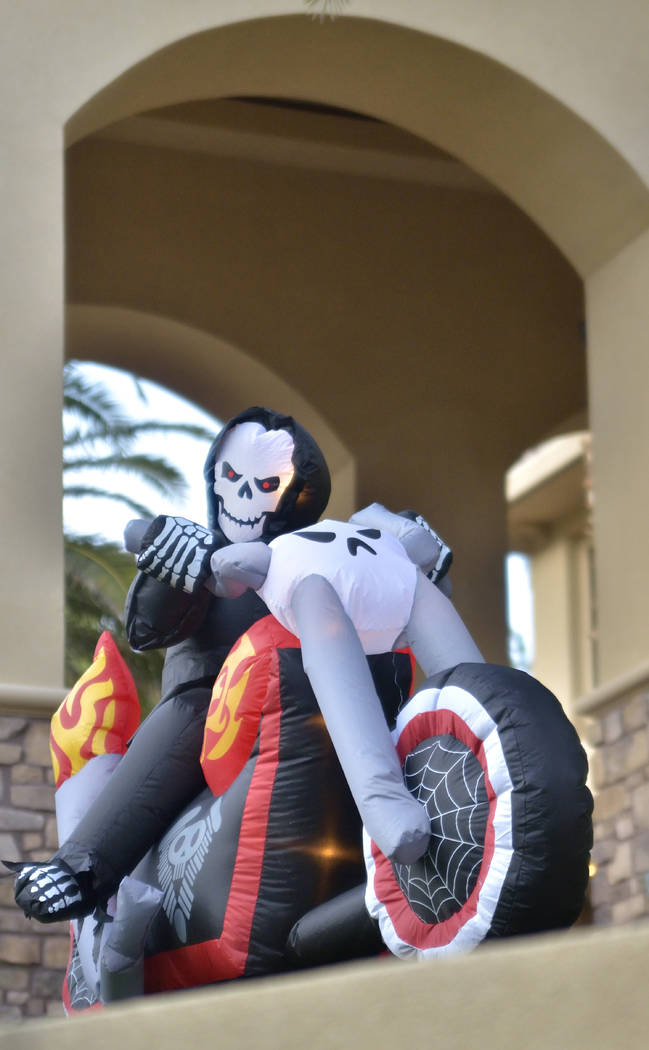 A Halloween decoration is shown at the Red Rock Country Club on Halloween night last year. (Bil ...