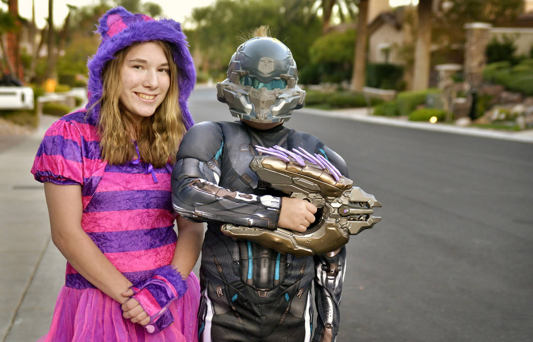 Destiny Taylor and her brother, Christian, dressed up for last year's holiday. (Bill Hughes Rea ...
