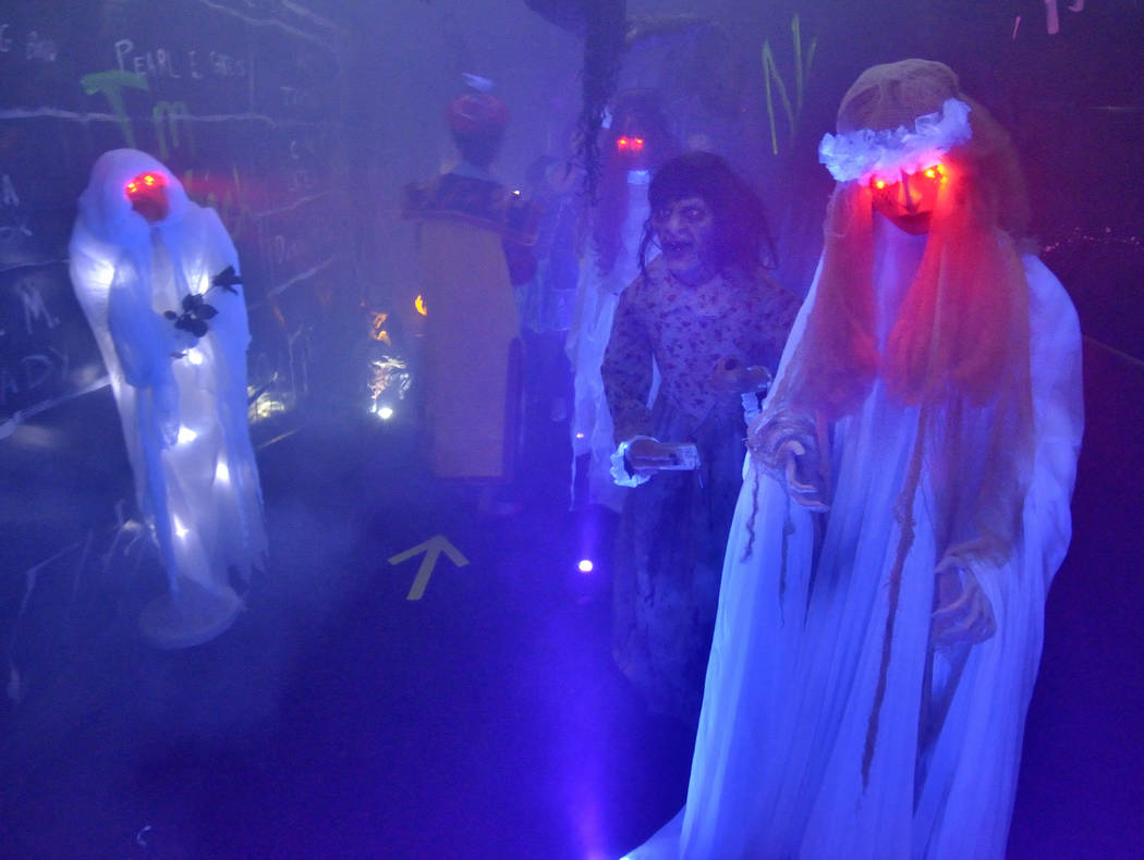 Lauren Browne Sugars and her husband, Brad, turned them home into a haunted house last year. (B ...