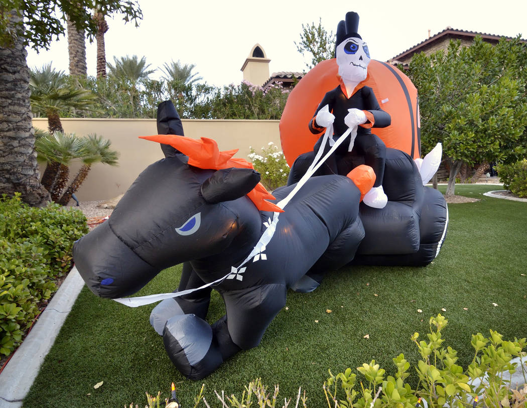 Halloween decorations adorn a Red Rock Country Club home. (Bill Hughes Real Estate Millions)