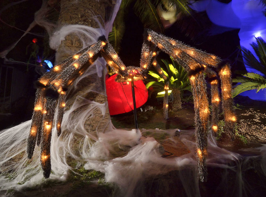 A scary spider is a on display for Halloween. (Bill Hughes Real Estate Millions)