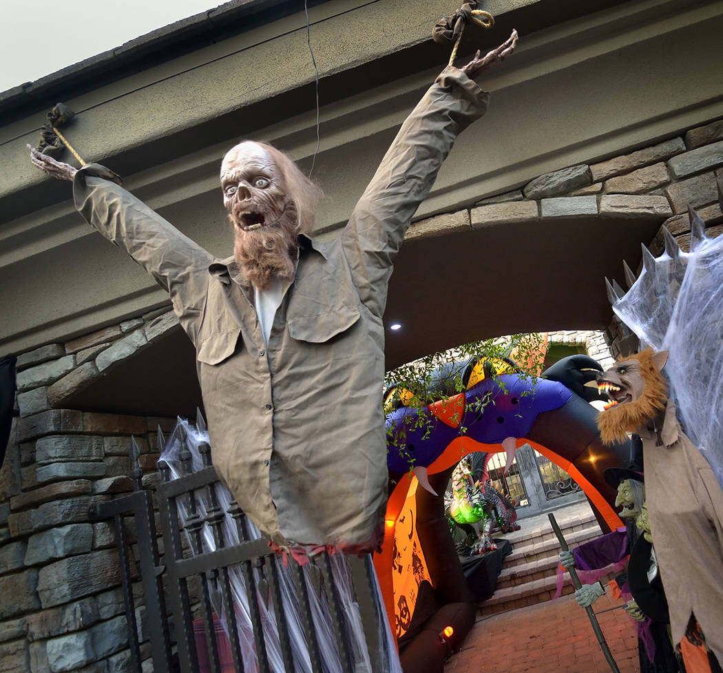A MacDonald Highlands home is decked out for Halloween. (Bill Hughes Real Estate Millions)