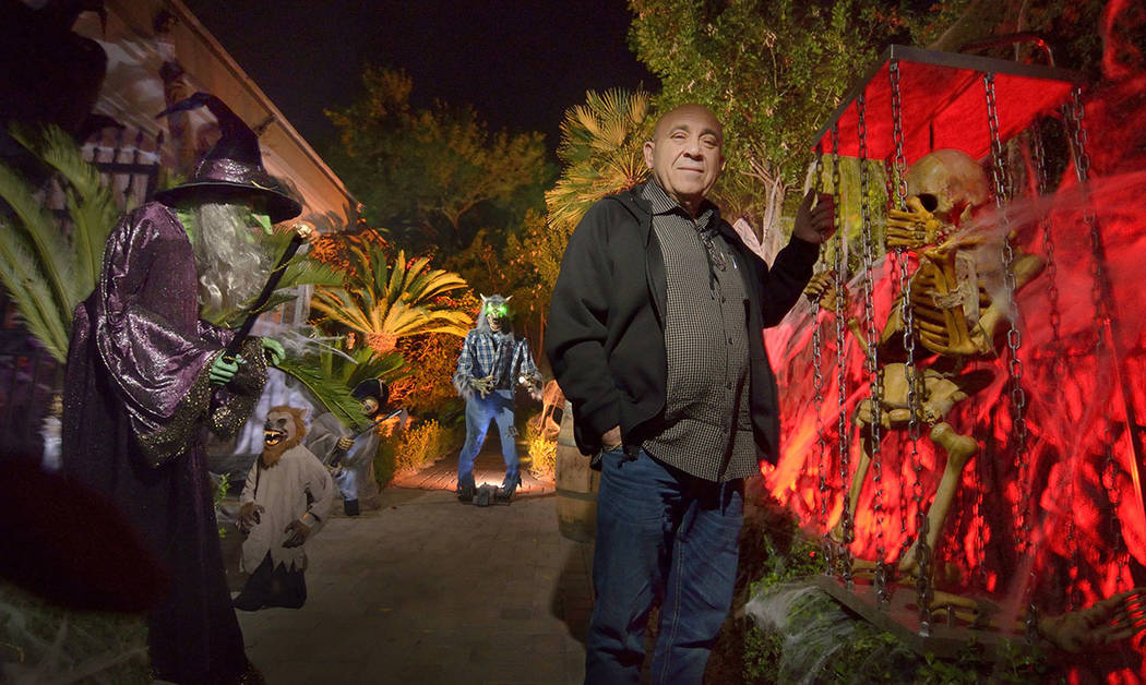 Carmine Vento goes all out with the Halloween decor. (Bill Hughes Real Estate Millions)