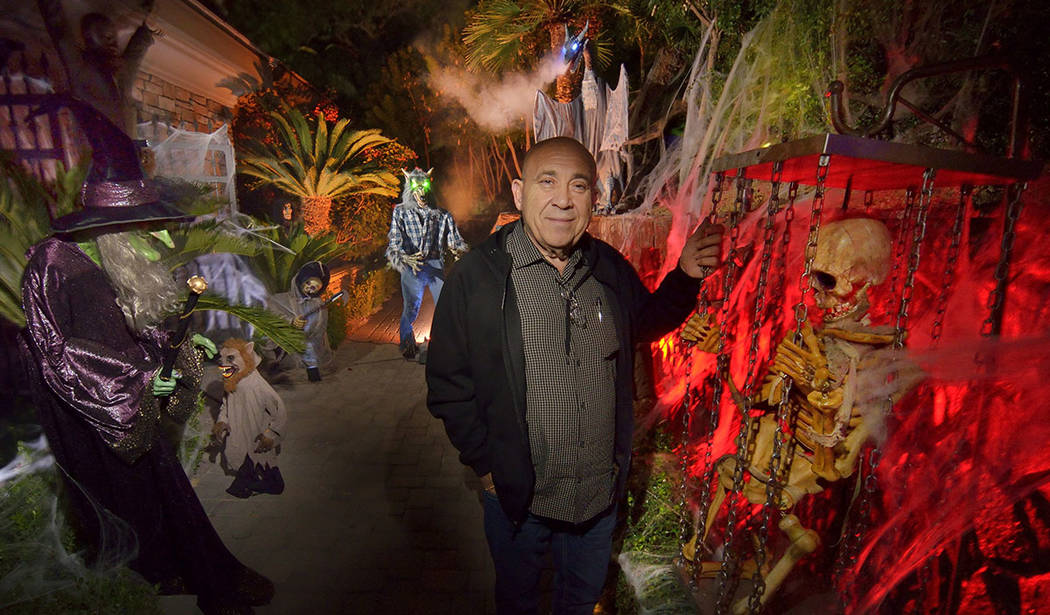 Carmine Vento goes all out with the Halloween decor at his home in MacDonald Highlands in Hende ...