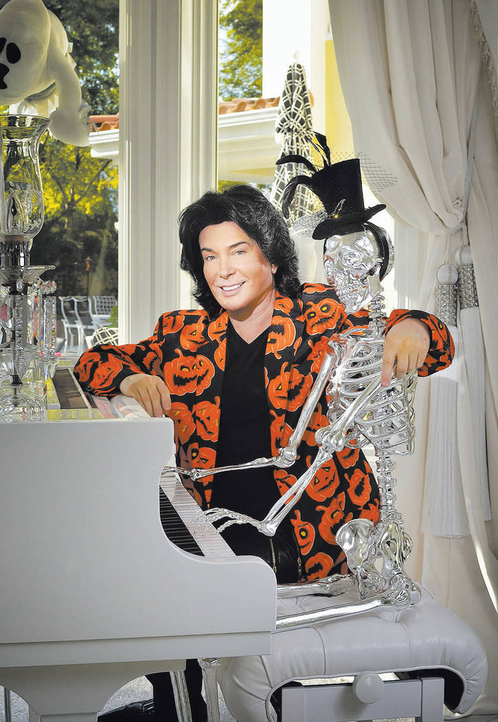 Las Vegas entertainer Frank Marino shows off his Halloween decorations. (Bill Hughes Real Estat ...