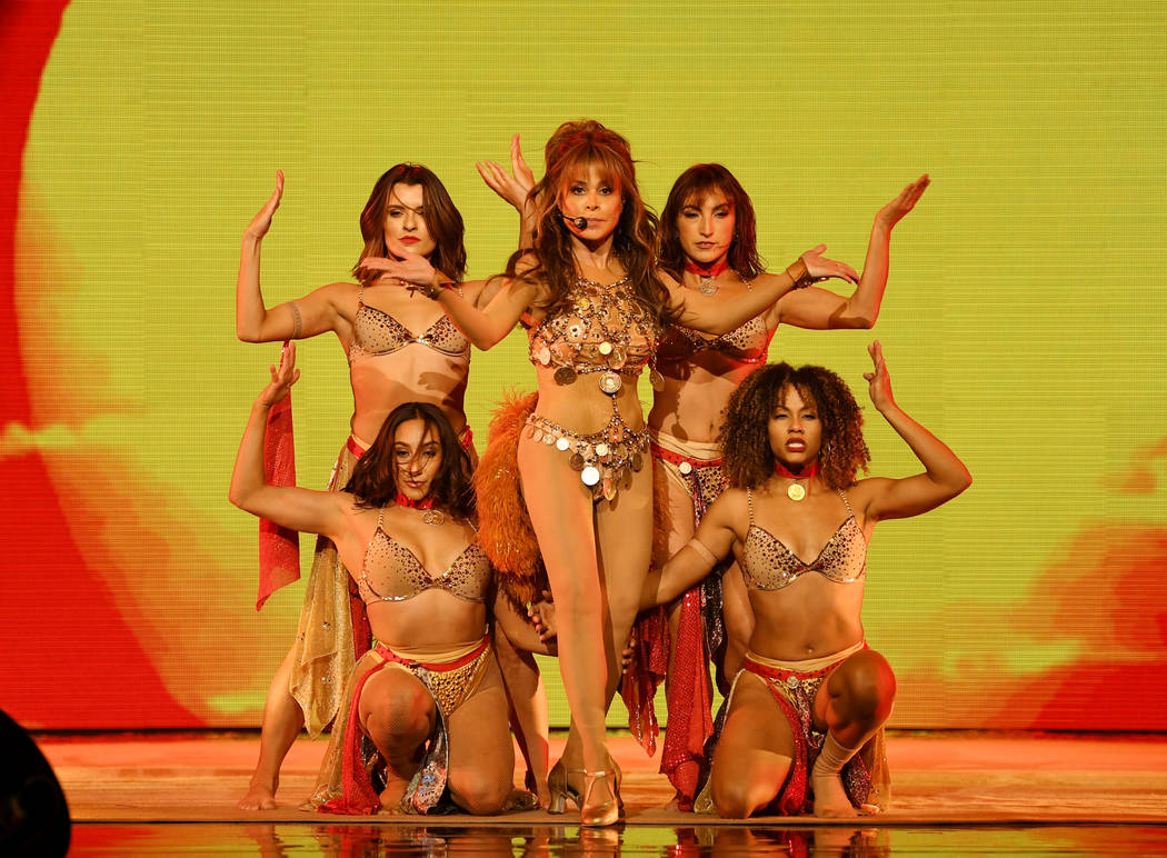 """Paula Abdul performs during the official opening of her headlining residency show, """"Paula Abdul ..."""